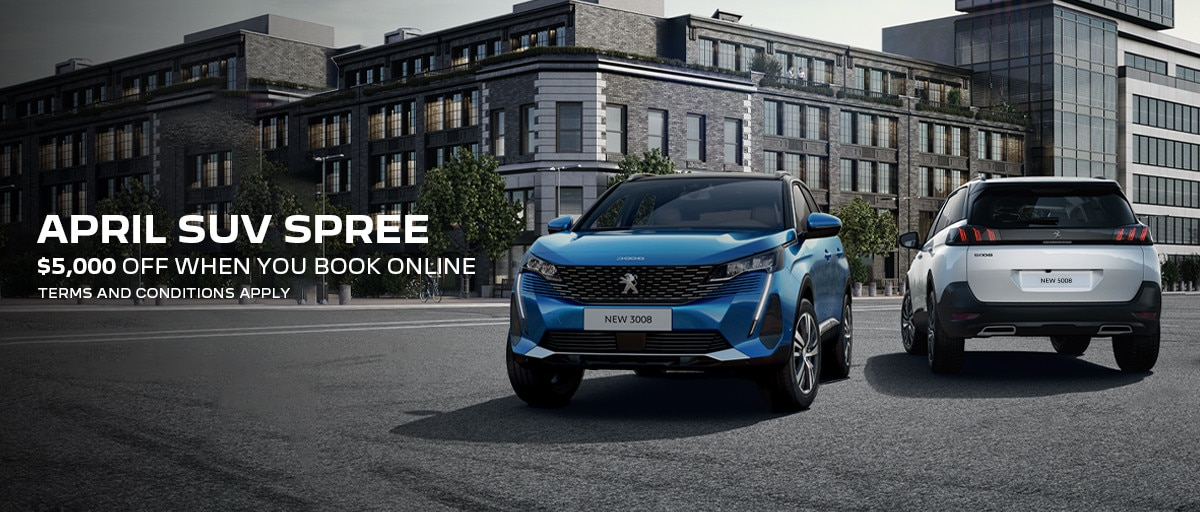 Peugeot SUV Range homepage