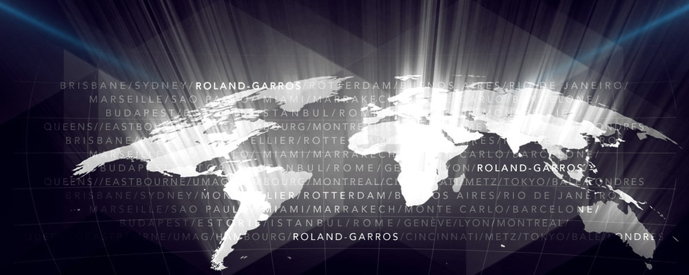 Peugeot World Tour - Representation of the different cities around the world of the Roland-Garros tour