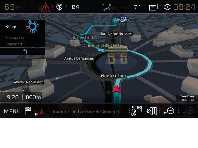 Peugeot 3D Map Display