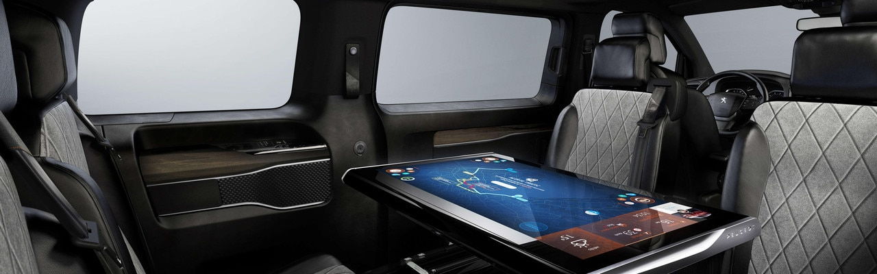Interior snapshot of the Concept car's 3.0 workspace
