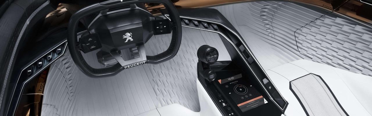 Fractal Sensory Amplification - Overview of the interior of the Concept car
